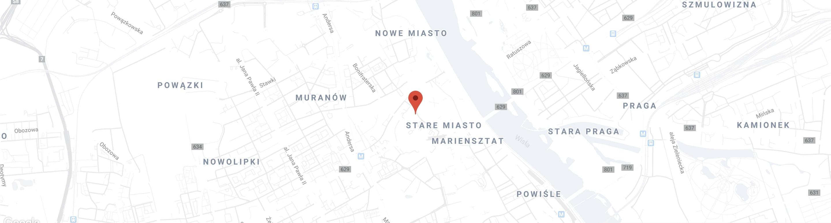 mapa stare miasto